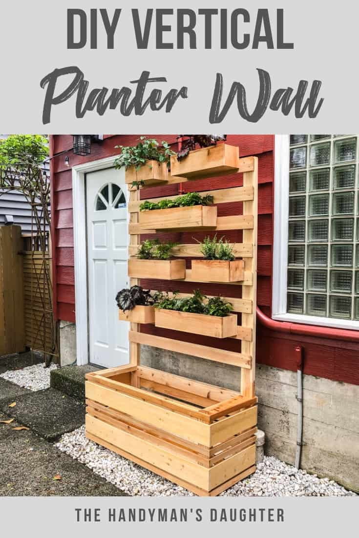 DIY Vertical Garden Wall Planter with Plans