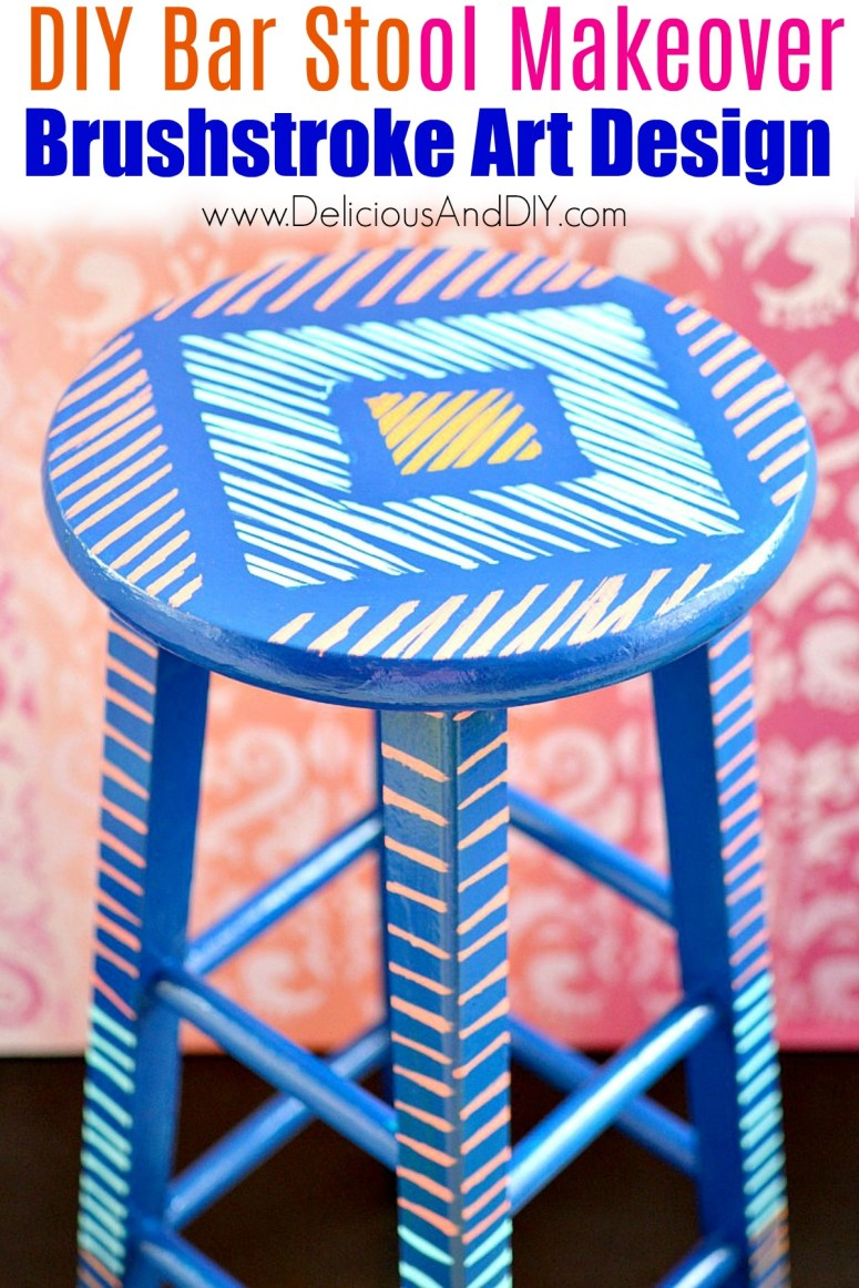painted bar stool