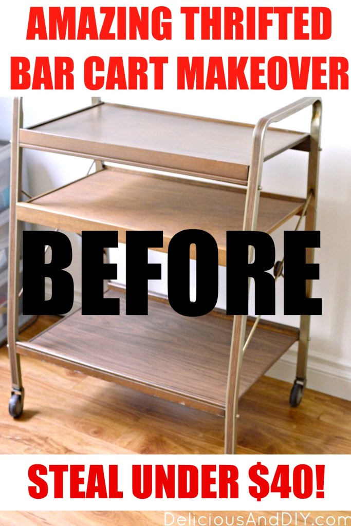 thrifted bar cart