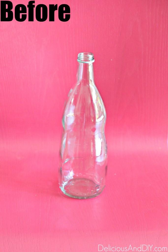 empty glass bottle for fall decor