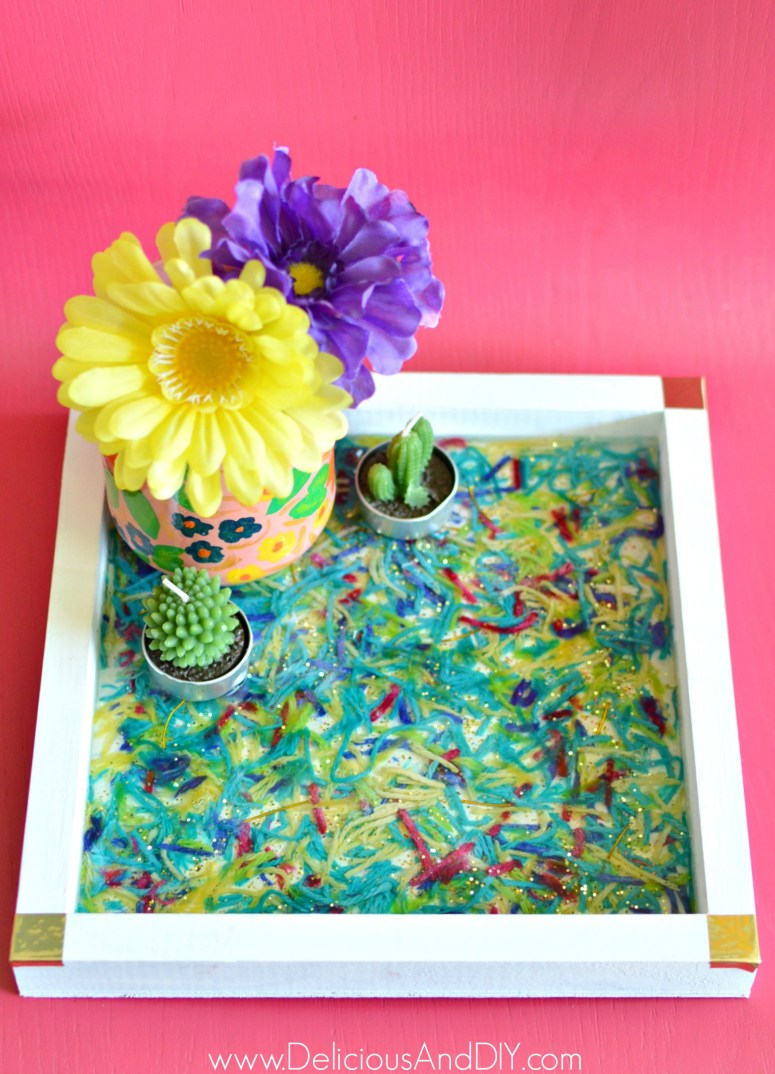 epoxy and resin serving tray