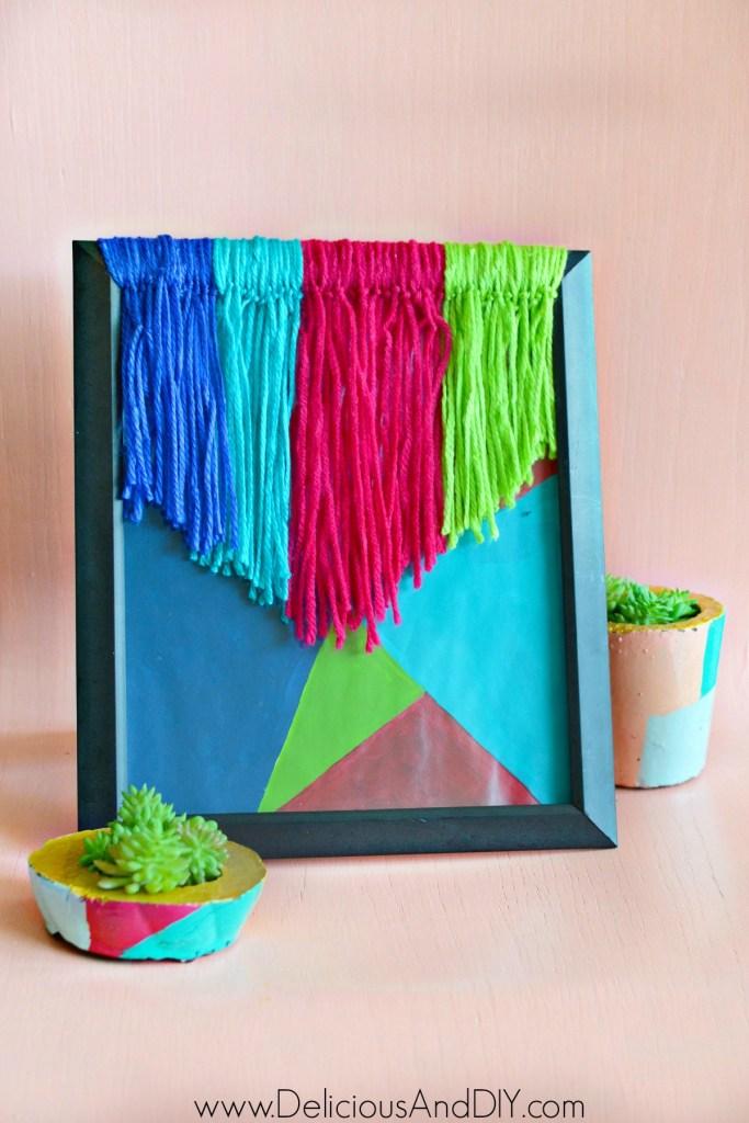 geometric yarn art