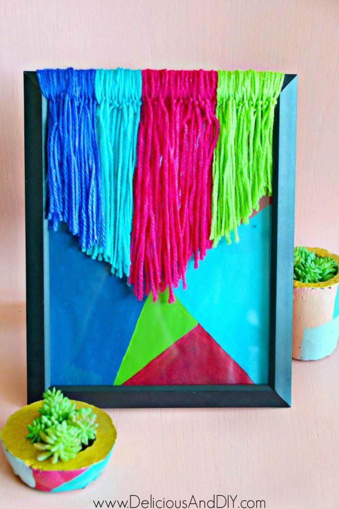 yarn wall art diy
