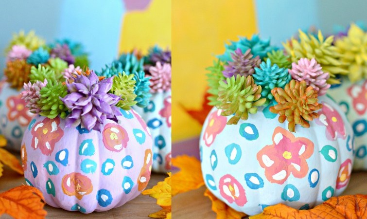 DIY Anthropologie Inspired Dollar Store Pumpkins