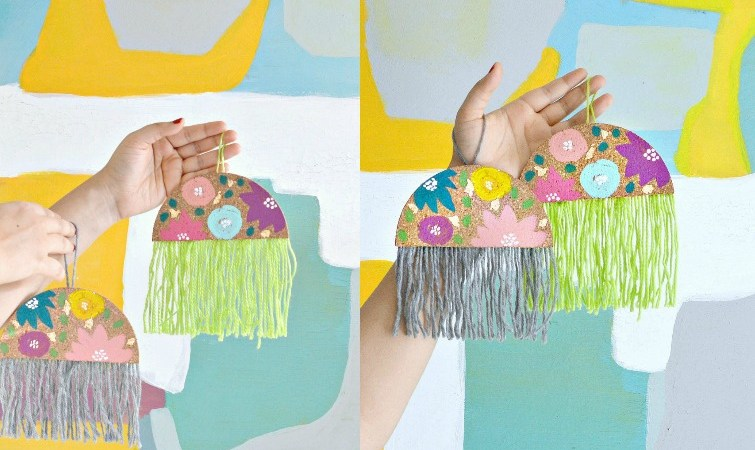 Boho Chic DIY Ornaments
