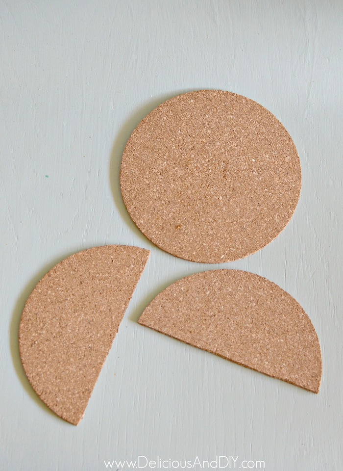 cork coasters used to make boho chic diy ornaments
