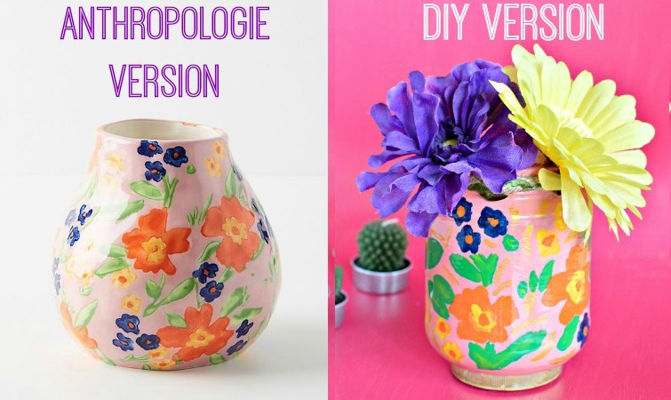 DIY Anthropologie Inspired Centerpiece Idea