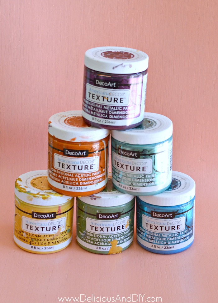 textured paint to use on paper cones