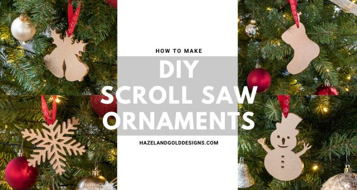 Simple Gold DIY Scroll Saw Ornaments