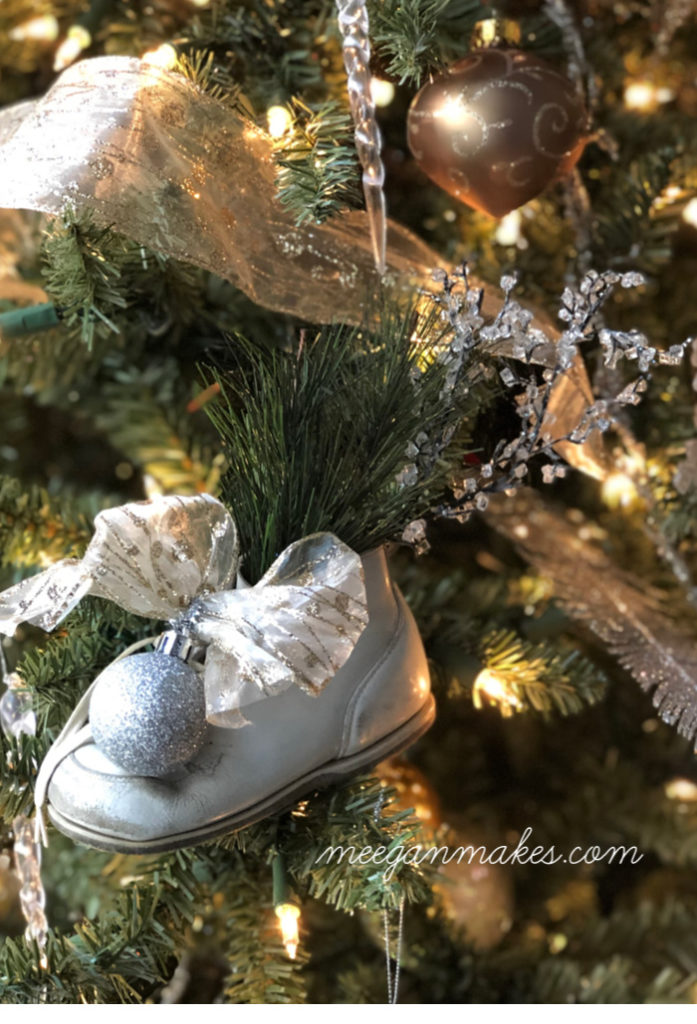DIY Vintage Baby Shoe Christmas Ornament