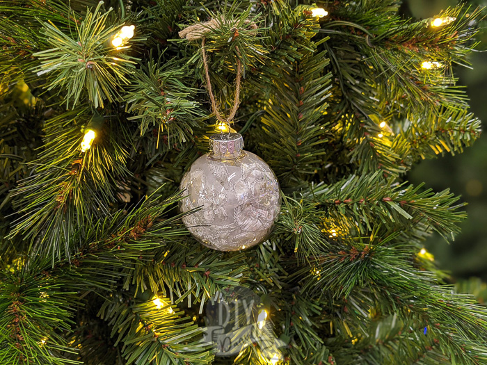 Easy Wedding Christmas Ornament