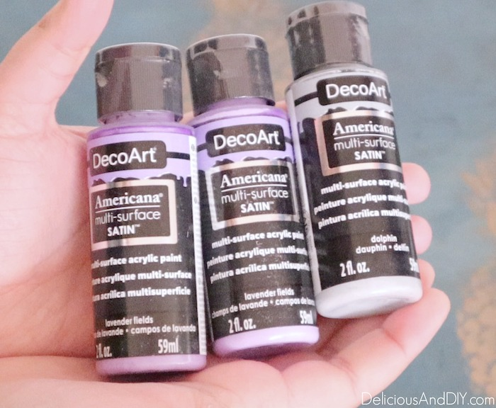 purple paints used on the bench