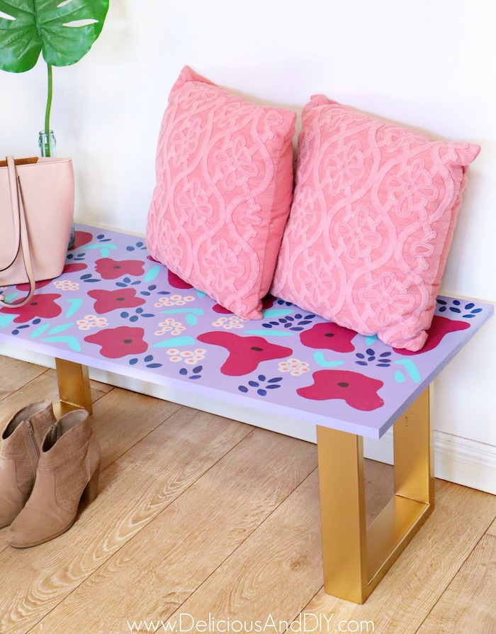 diy painted bench