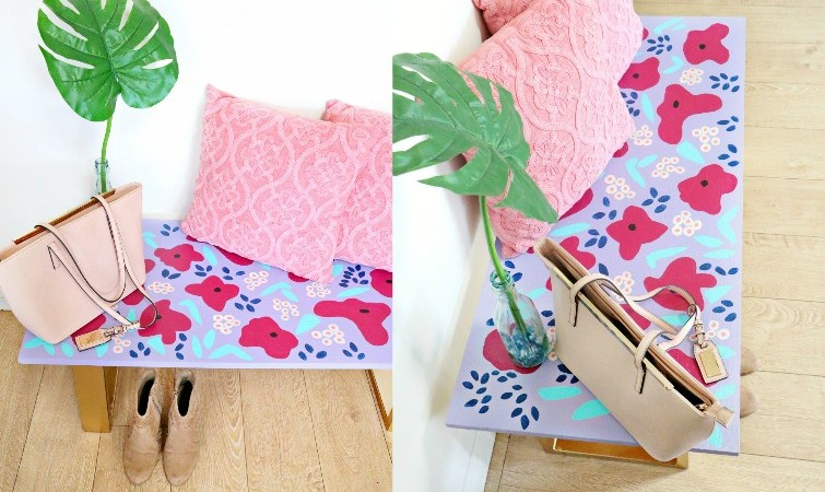 DIY Anthropologie Inspired Bench Makeover