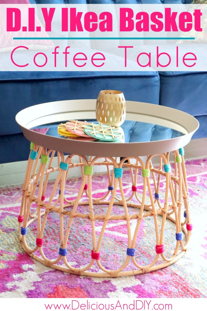diy ikea coffee table hack