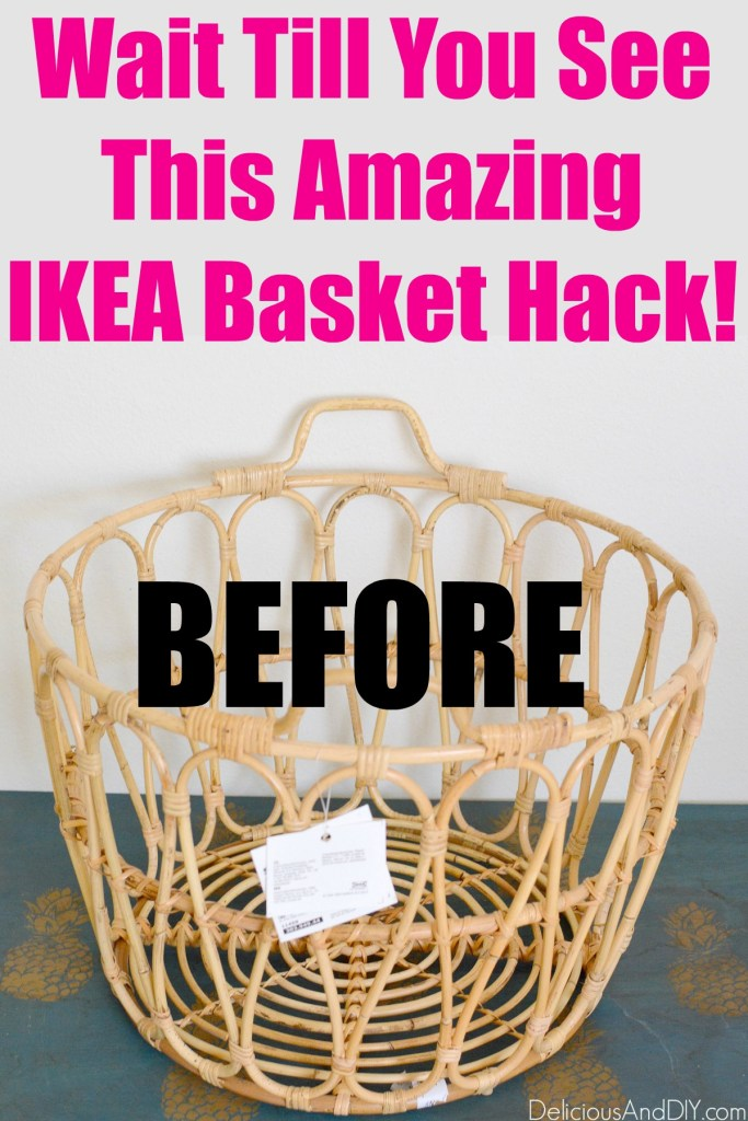 ikea basket before the DIY makeover