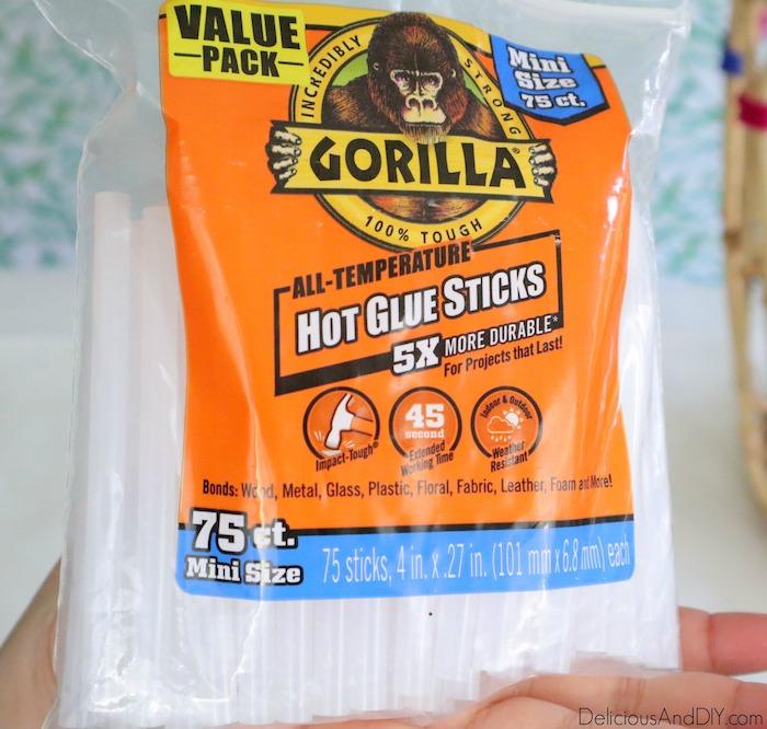 hot glue gorilla sticks