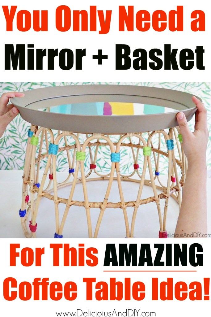 ikea mirror and basket table