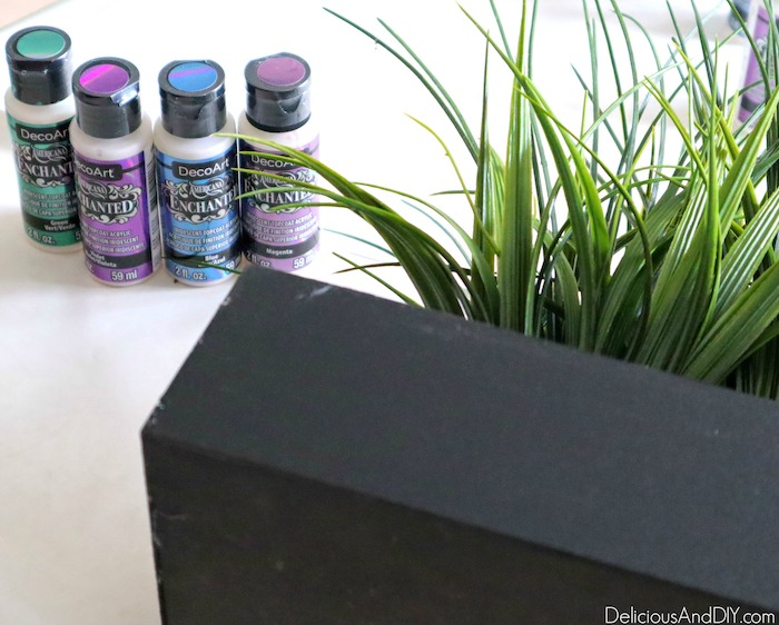 starting to paint outdoor planter
