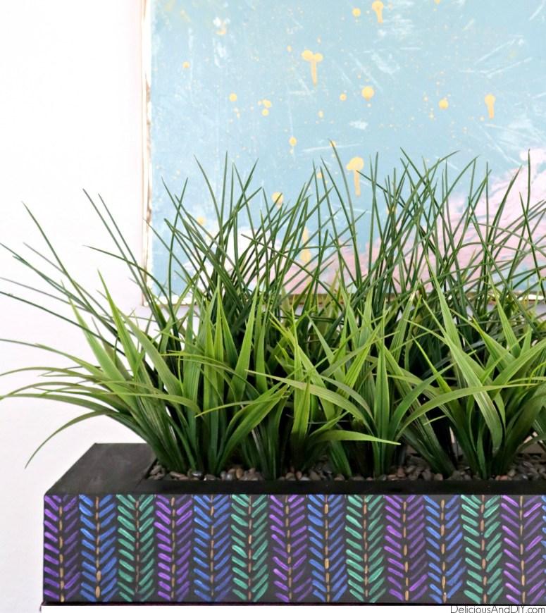 painted aztec planter