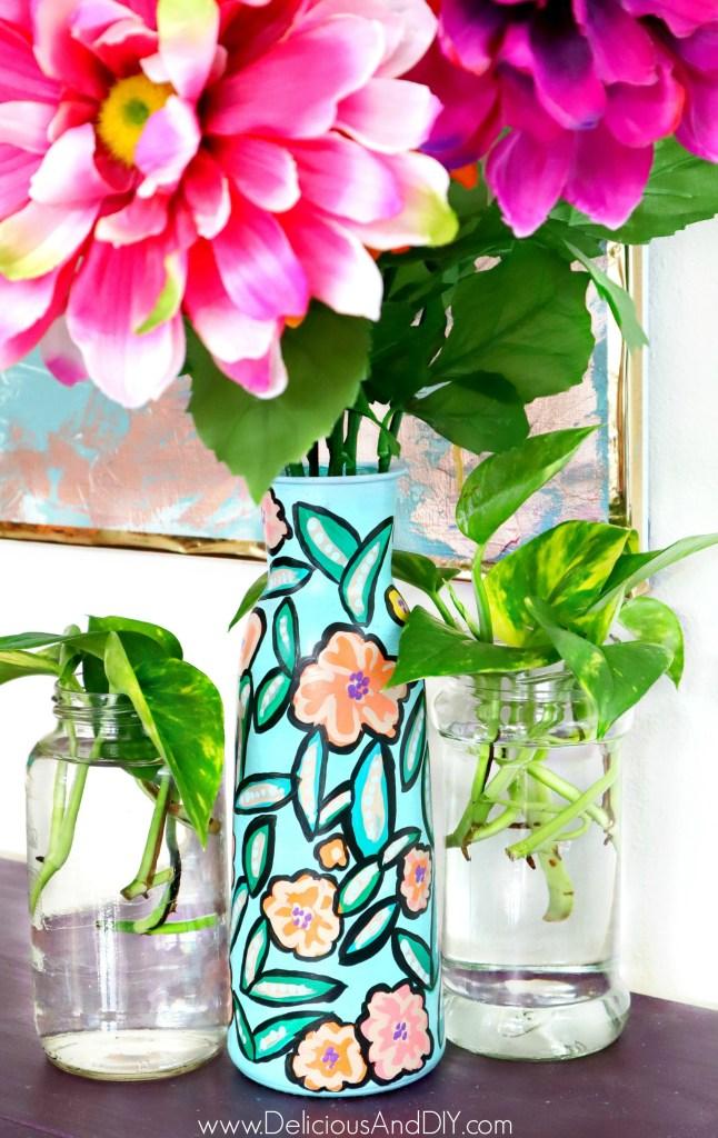 dollar store vase spring inspired