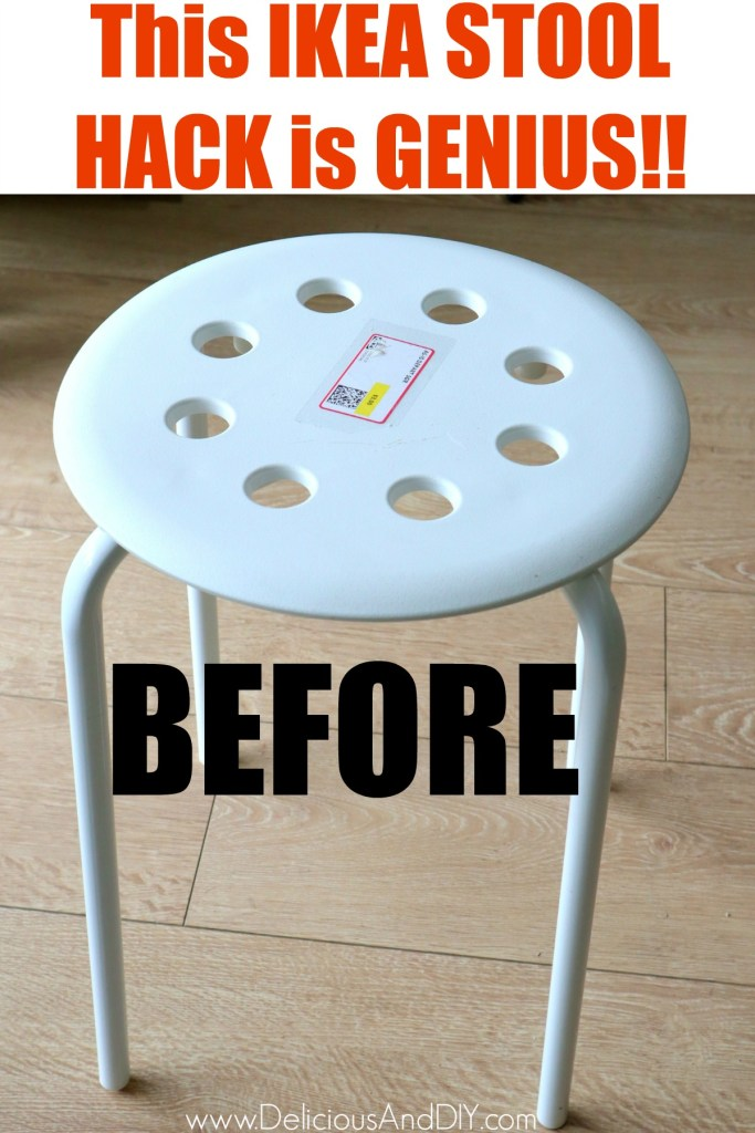 ikea marius stool in white