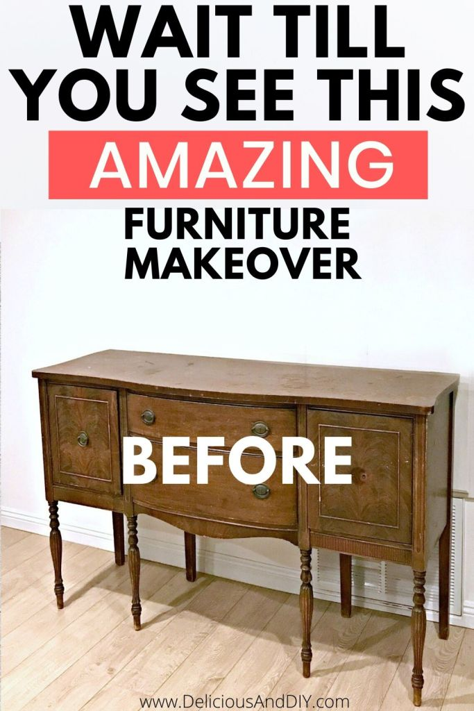 buffet table makeover