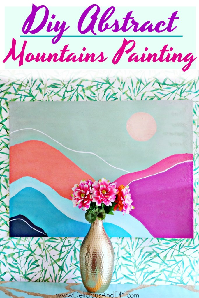 abstract mountains painting wall art