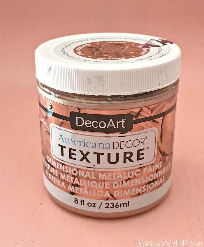 texture copper paint
