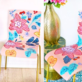 painted anthropologie chair