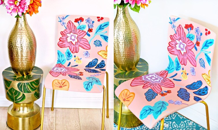 DIY Painted Anthropologie Inspired Chair