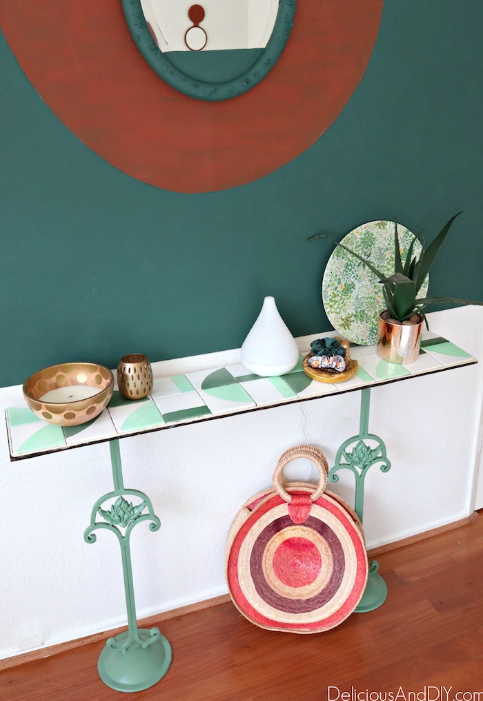 diy candlestick stand easy console table