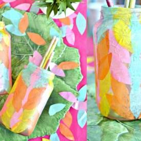 diy bottle crafts using decoupage glue