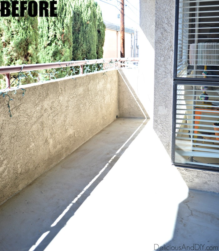 rental apartment balcony before being transformed