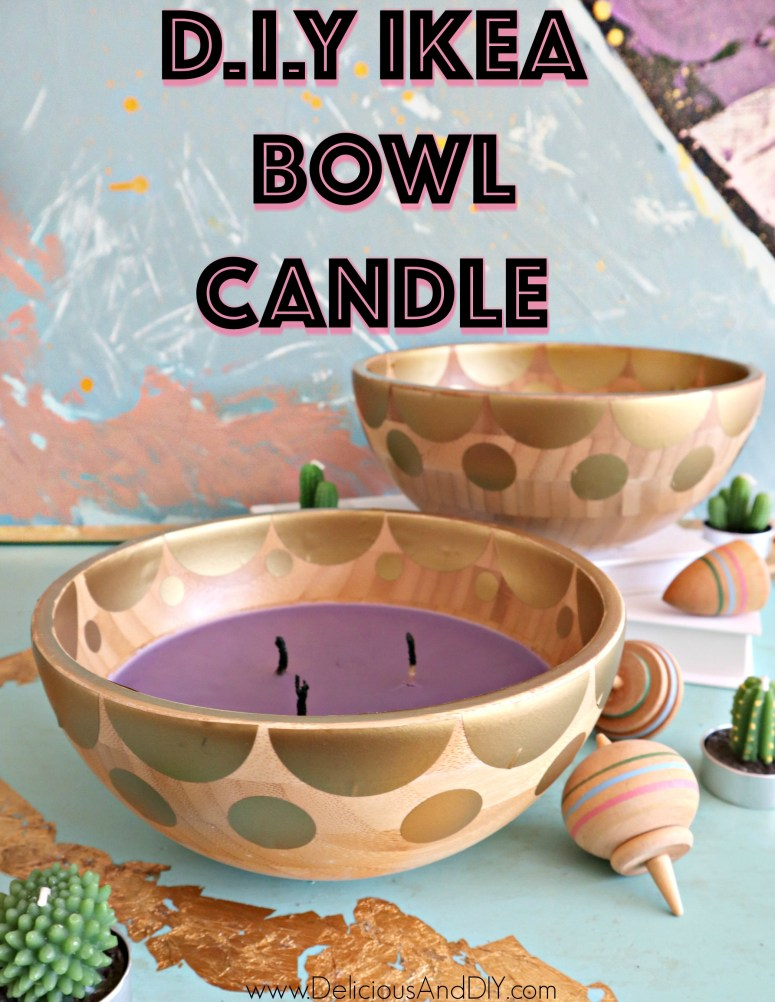 diy ikea bowl transformed into a candle