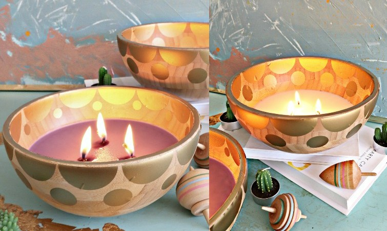 DIY IKEA Wood Bowl Candle – Anthropologie Inspired