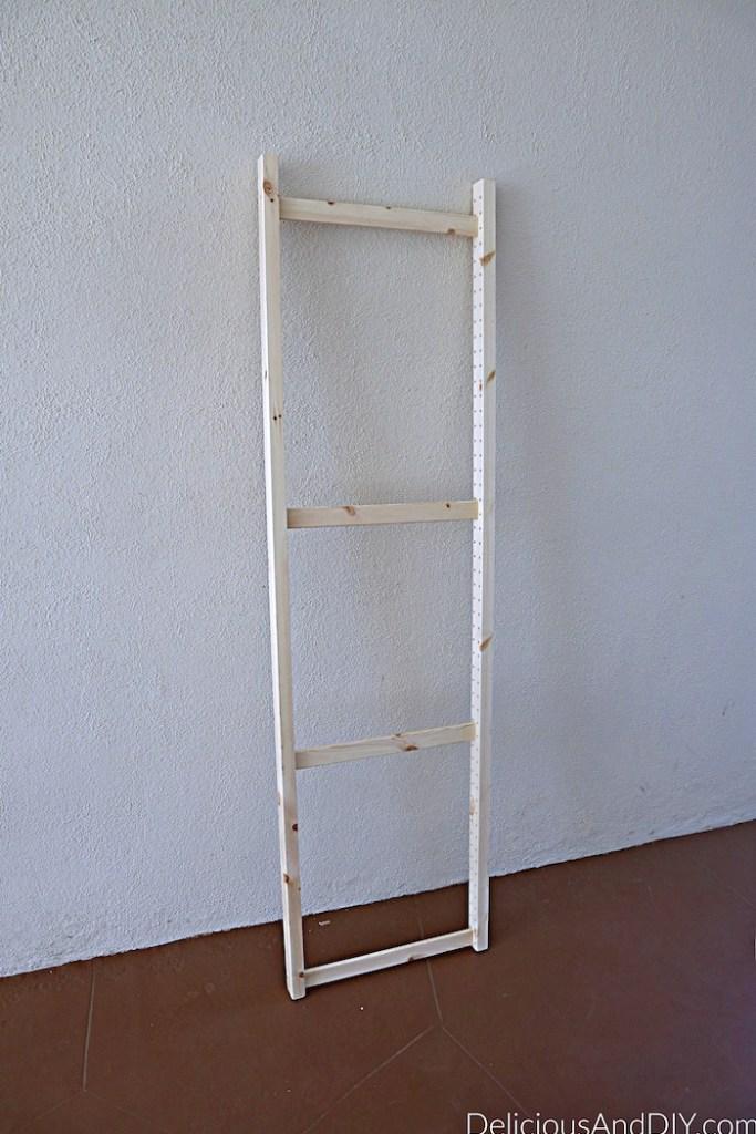 Ikea Ivar Cabinet Shelf before being turned into a headboard