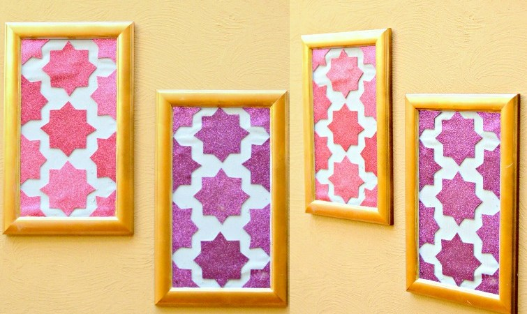 DIY Moroccan Wall Art -Using Cardstock
