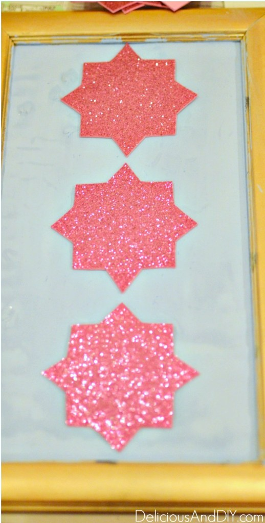 pink glitter moroccan cardstock