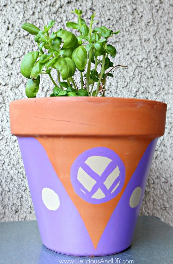 Painted Volkswagen Outdoor Pots