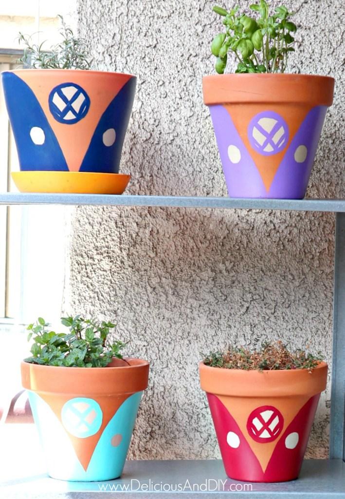 Terra Cotta Pots Painted