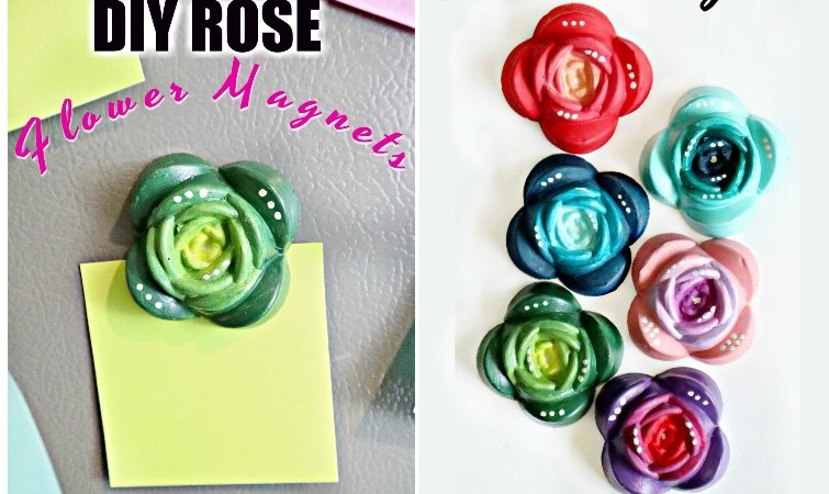 How To Make DIY Resin Rose Magnets-Using Silicone Mold and FastCast Resin