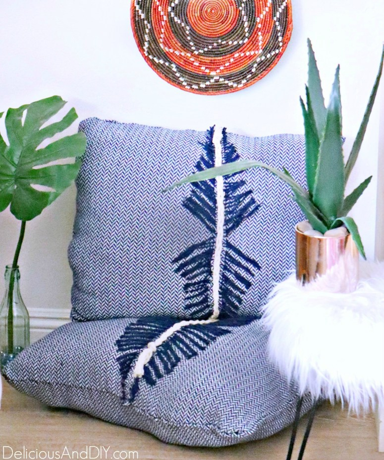 throw pillows made using glue