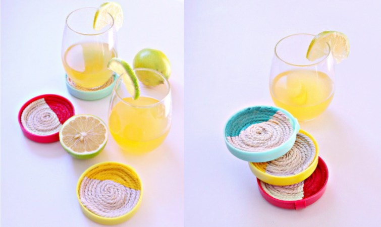 DIY Upcycled Coasters Using Recycled Lids