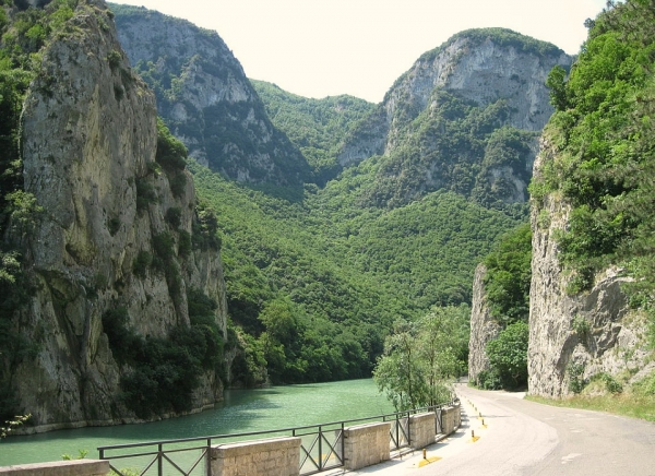 The Furlo Gorge near Acqualagna