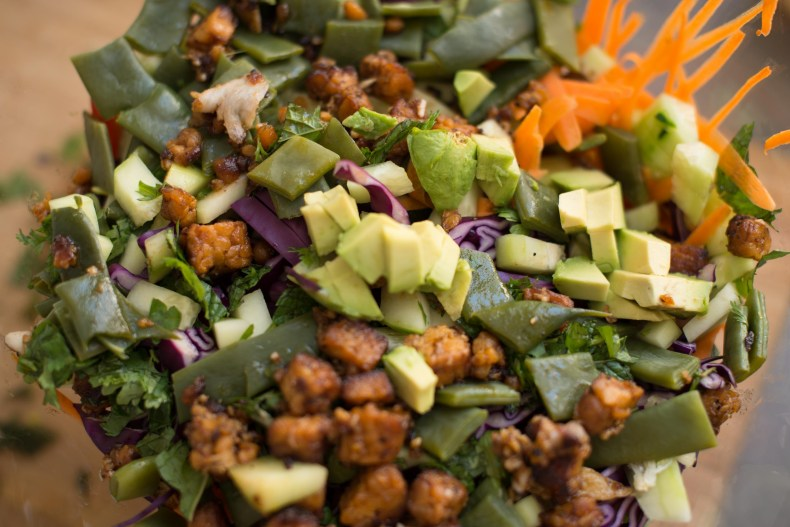Asian Summer Salad with Grilled Tempeh