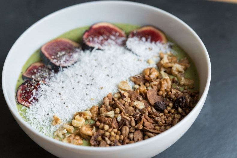 Glowing Green Smoothie Breakfast Bowl