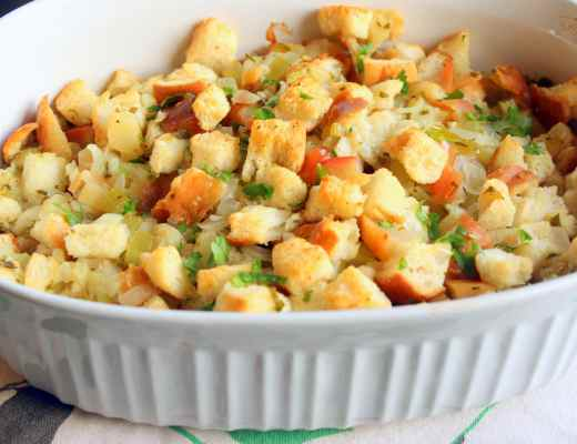 This Light and Fluffy Stuffing was the perfect addition to a heavy holiday meal. Delicious!