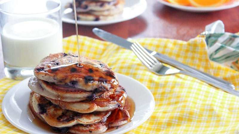 Mama Cecile's Healthy Yogurt Pancakes from scratch - so easy and delicious!