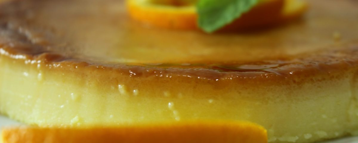 Caramel orange pudding